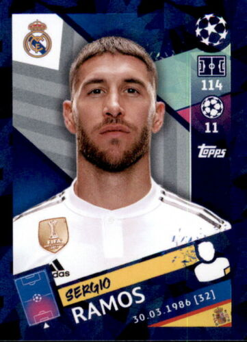 Sergio Ramos Sticker 43 Topps Champions League 18//19