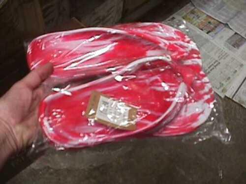 NEW 8 9 8.5 AUSSIE SOULS SOLES FLIP-FLOPS- 41 39 RED /& WHITE 40