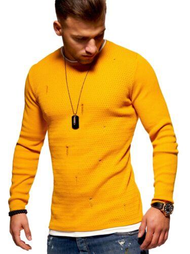 BEHYPE 2in1 Pullover Destroyed Strickpullover Rundhals Sweatshirt Longsleeve NEU