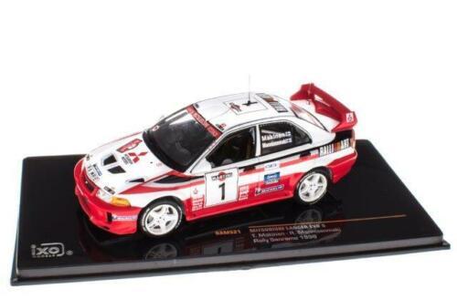 Mitsubishi Lancer Evo V WRC Rally Sanremo 98 Makinen 1:43 IXO MODELLAUTO RAM521