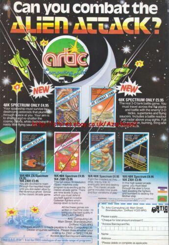 "Artic Computing Ltd /""Vintage Spectrum Games/"" 1983 Magazine Advert #5064"