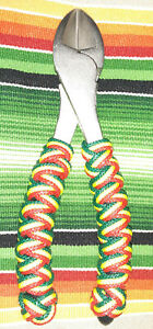 FISHING-7-inch-BIG-HEAD-DIAGONAL-CUTTER-CUSTOM-TURKS-HEAD-WRAP-RASTA-COLORS