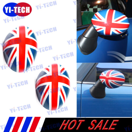 Union Jack Side Wing Mirror Casing Covers Cap for Mini Cooper Power Fold Mirror