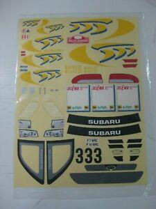 Intelligent Vintage Kyosho Tamiya Decal Stickers Subaru Rallye San Remo Wrc R/c 1/10-nuevo Lissage De La Circulation Et Des Douleurs D'ArrêT