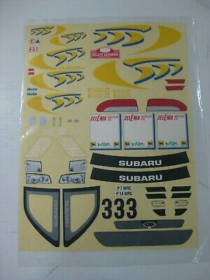 Vintage Kyosho Tamiya Decal Stickers Subaru Rallye San Remo Wrc R/c 1/10-nuevo Imballaggio Di Marca Nominata