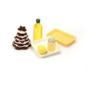 6x-1-12-Dollhouse-Miniature-Food-Pine-Cake-Lemon-Condensed-Milk-Breakfast-Set