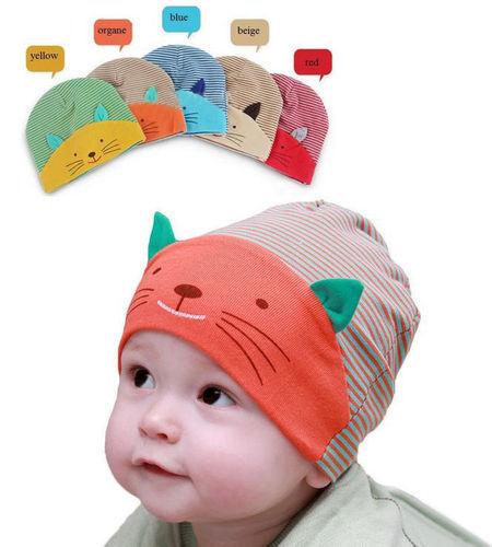 Baby Strickmütze Feinstrickmütze Herbst Frühling Wintermütze Baumwolle Beanie