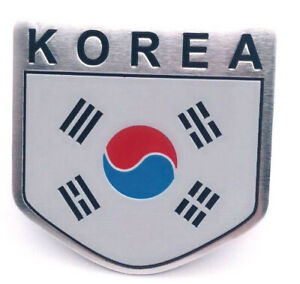 Sticker-Aufkleber-Emblem-Korea-Metall-selbstklebend-Auf-Kleber-Nord-Sued-Wappen