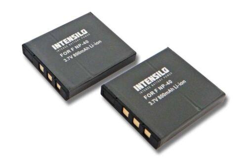 Batería 2x intensilo 800mAh Para Fuji F420 F650 F710 F818 Z2 J50 ACCU