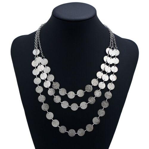 Women Fashion Jewelry Multicouche Chaîne Pendentif Collier Déclaration Bib Collier