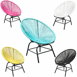 retro acapulco chair farbwahl mexico stuhl polyrattan outdoor st hle gartenstuhl ebay. Black Bedroom Furniture Sets. Home Design Ideas