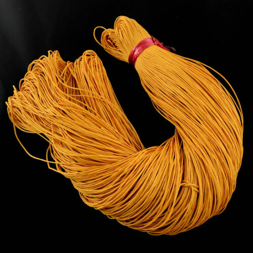 15 mtr  Waxed Cotton Cord,1mm Jewellery Making Thread Macrame 17 colours