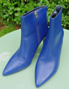 Eu Ankle Heeled 8 High L Ultra 41 Leather Rosa K Bennett Blue Boots Bnwb gwqgCB
