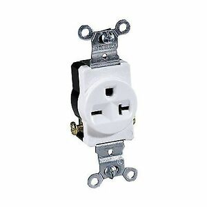 Cooper Wiring 1876wbox Mercial Grounding Single Receptacle 250. Stock Photo. Wiring. 250 Volt Single Outlet Wiring At Scoala.co