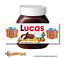 thumbnail 7 - CHRISTMAS Personalised fits Nut Chocolate Spread Jar LABEL Sticker Gift XMAS