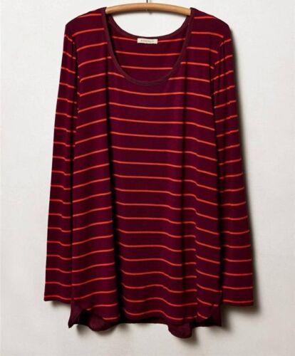 M S Bordeaux Jersey Halcyon Top Size XS XS Petite NW ANTHROPOLOGIE Tag L