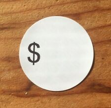 1000 Self Adhesive Sale Price Round Retail Labels 1 Sticker Tags