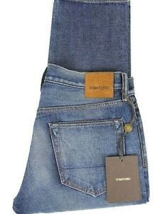 aff3055465e3 New Tom Ford Selvedge Denim Jeans Vintage Wash Straight Fit Model ...