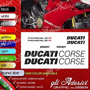 Series-Adhesives-Stickers-Compatible-Ducati-Panigale-R-Logos-Carene-Tank