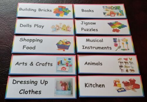 NURSERY// PRE-SCHOOL// PLAYGROUP TOY ROOM 20 LABELS HOME// CHILDMINDER TOY BOX