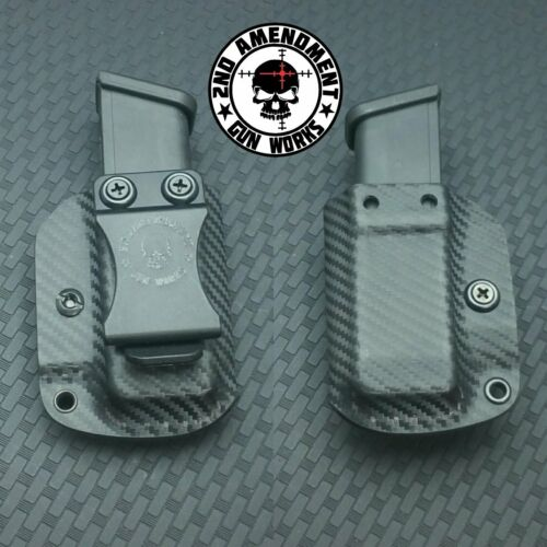 Single Pistol Magazine Carrier IWB//OWB Carbon Fiber Kydex for Sig SA Glock 2AGW