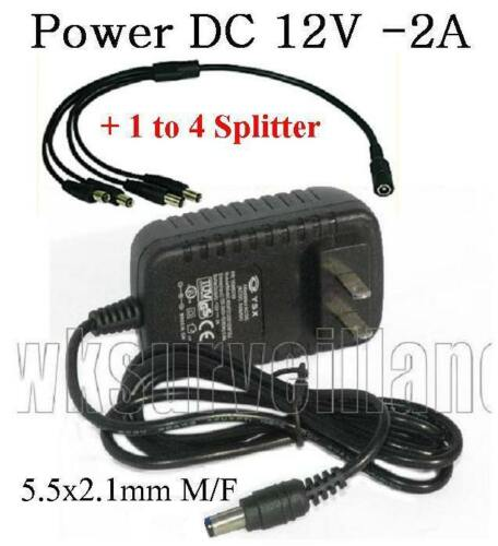 AC Adapter Input AC100-240 50//60Hz 0.4A   Output DC12v 2A 1 to 4 Splitter