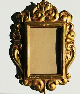 10-034-Antique-Frame-Italian-Florentine-Frame-Gold-Gilt-Giltwood-Wood-Louis-Rococo