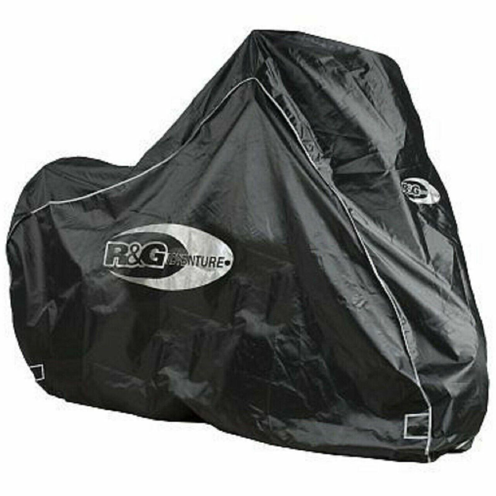 R&G Motorcycle Adventure Bike Outdoor Waterproof Protective Rain Cover - Black