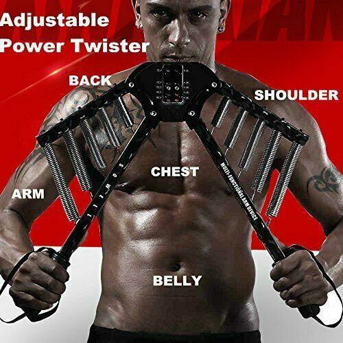 Sowell Best Arm Exercises 4 In 1 Power Twister Chest Expander Adjustable Strengt
