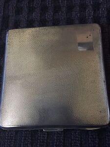 Vintage Sterling Silver Cigarette Case - Birmingham 1939,Grant & Son-95g