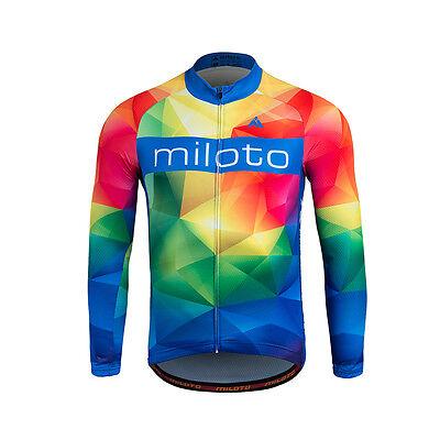 2020 Long Sleeve Cycling Jersey Men/'s Reflective Cycle Biking Shirt Top S-5XL