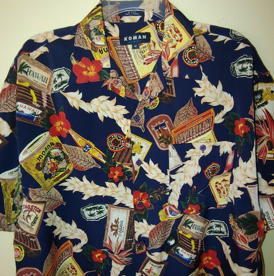 Koman Sport Hawaiian Shirt Size M Hawaii Fine Cig Gem [ 1070 x 1061 Pixel ]