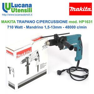 MAKITA-TRAPANO-PERCUSSIONE-mod-HP1631-710W-Mandrino-Autoserrante-13mm-48000c-min