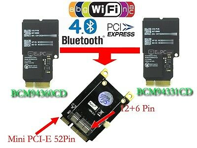 BCM94360CSAX 802.11ac 1300M BT4.0 2.4//5.0G Dual Band PCIE Wifi Card For Mac//Win8