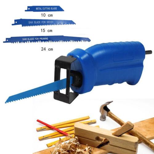 3 × Sägeblätter Nützlich Set Of Säbelsäge Adapter Bohrmaschine In