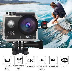 New 4K 2'' Ultra HD 1080P Sport WiFi Cam Action Camera DV Video Recorder 16MP