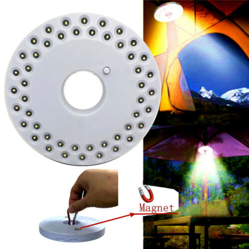 48 LED Outdoor Camping Torch Hanging Night Light Umbrella Tent Lamp With Magnet