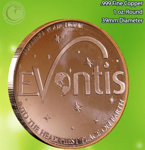 Evontis 1 oz .999 Copper Round Very Limited and Rare