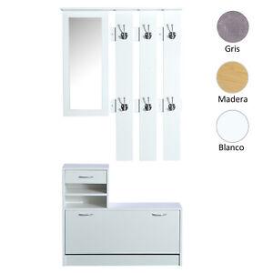 Conjunto-Muebles-de-Entrada-Recibidor-Pasillo-3-Piezas-Perchero-Espejo-Zapatero