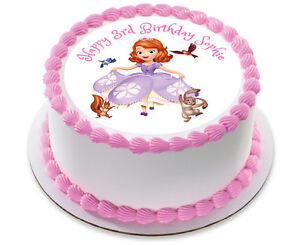 Astonishing Sofia The First Personalized Birthday Cake Topper Edible Icing Funny Birthday Cards Online Aeocydamsfinfo