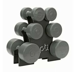 Opti-Dumbbell-Tree-Set-Vinyl-15KG-Home-Workout-Home-Gym-Fast-Delivery