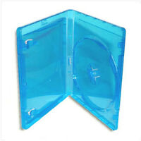 NEW! Single BLU-RAY Case *3-Pack* Standard Painted Logo Design (11mm) Blue