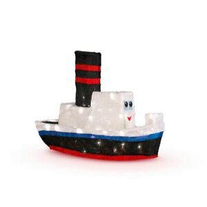 Details About Rudolph Misfit Boat 24 3 D Tinsel Outdoor Christmas Decoration Yard Art