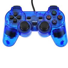 Ps2 PlayStation 2 Clear Blue Wired Controller