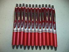 12 RED Pentel EnerGel Deluxe RTX 0.7mm Rollerball Gel Ink Pens Liquid X1071 NIB