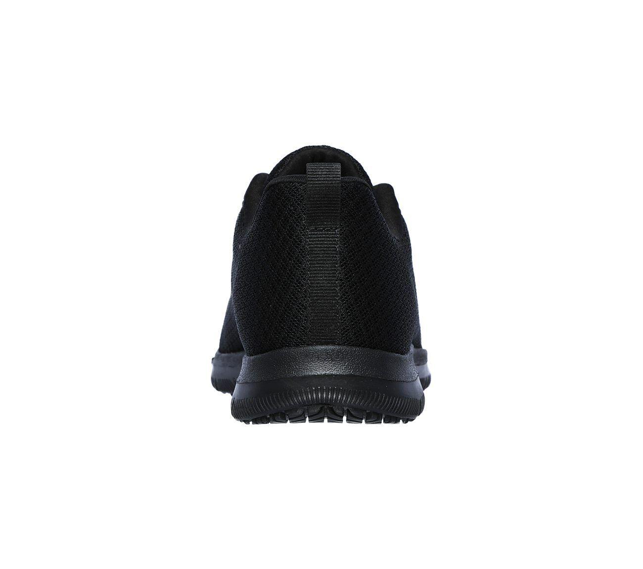 77210 77210 77210 Wide Fit Black Skechers shoe Women Memory Foam Work Slip Resistant Comfort 90e5fb