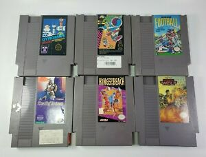 6-Game-Nintendo-NES-lot-Operation-Wolf-Gyromite-Deadly-Towers-MORE-Tested