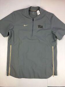 Nike-Men-039-s-Pitt-Panthers-Short-Sleeve-Golf-Baseball-Vented-Jacket-Size-Medium