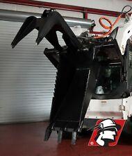 Skid Steer Hydraulic Stump Bucket With Thumb Universal Fit Heavy Duty