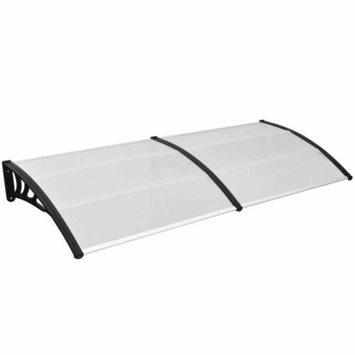 """Canopy Over Door Porch Balcony Shelter Awning Polycarbonate Sheets 47/"""" 59/"""" 118/"""""""